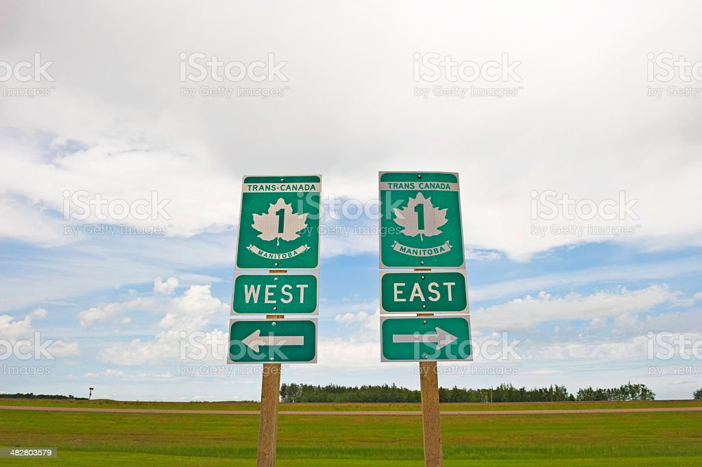Road Direction Signs stock photo