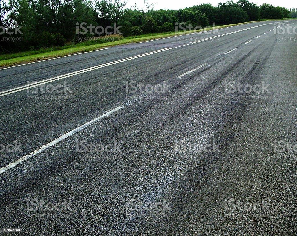 Road drag race start royalty-free stock photo