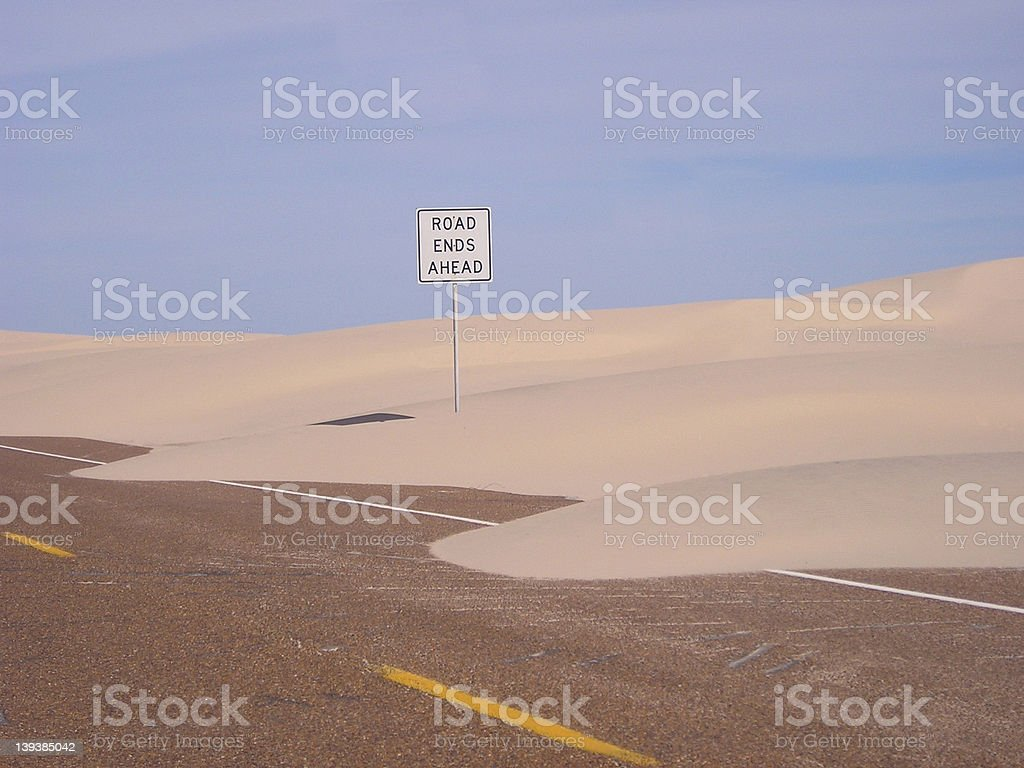 Road ends ahead royalty-free stock photo