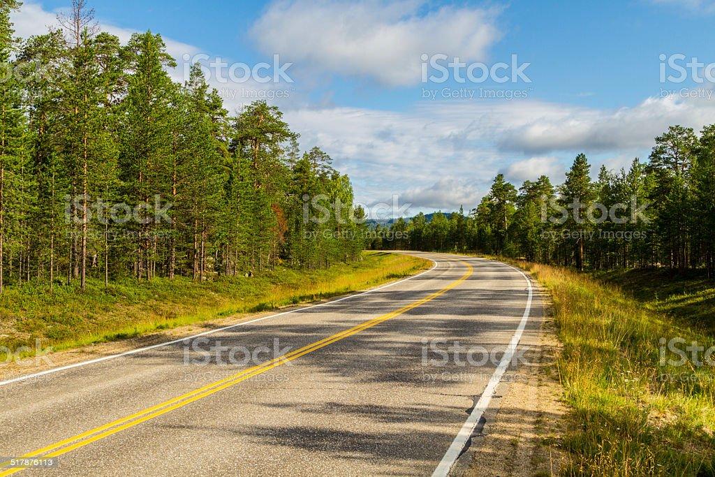 Road - Finland stock photo