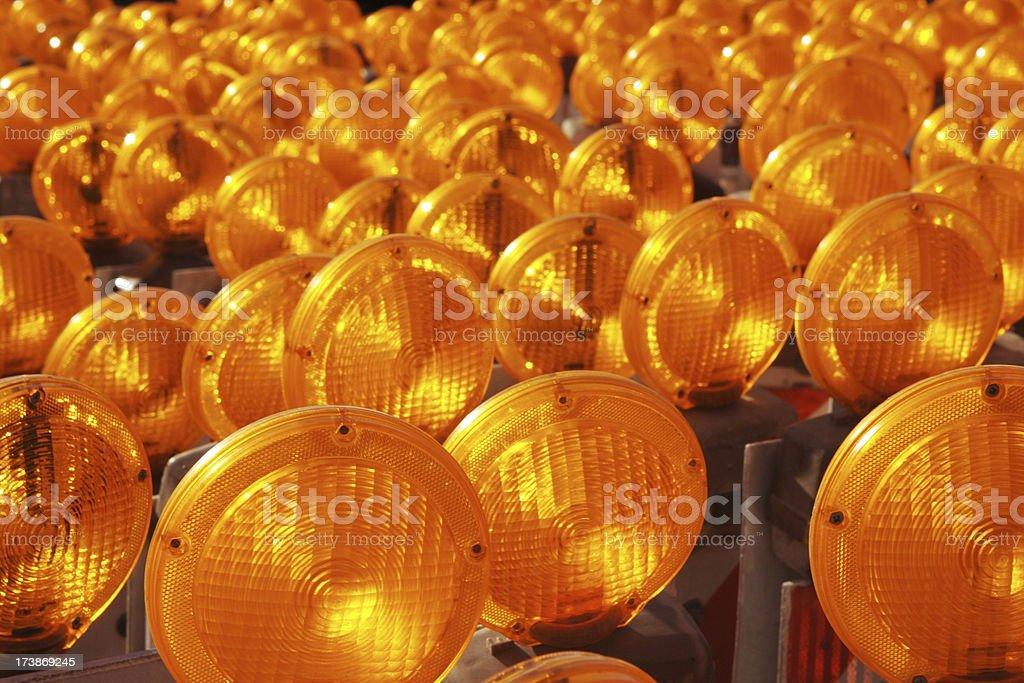 Road Flasher Construction Reflectors stock photo
