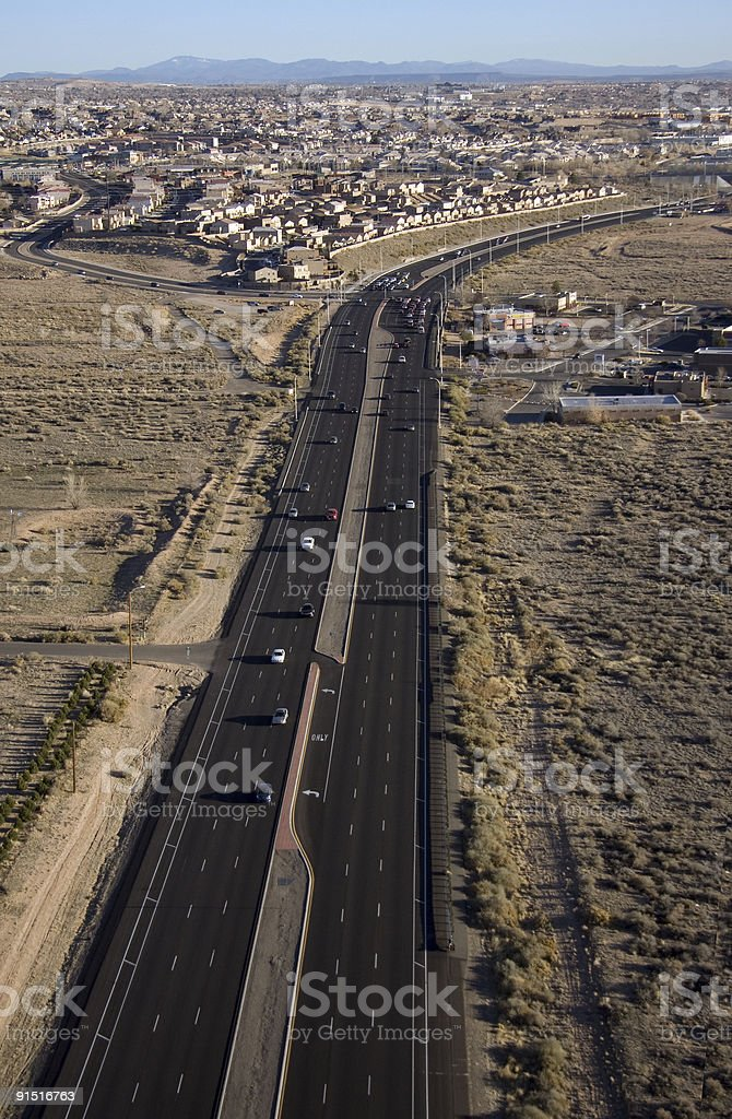 Road from above royalty-free stock photo