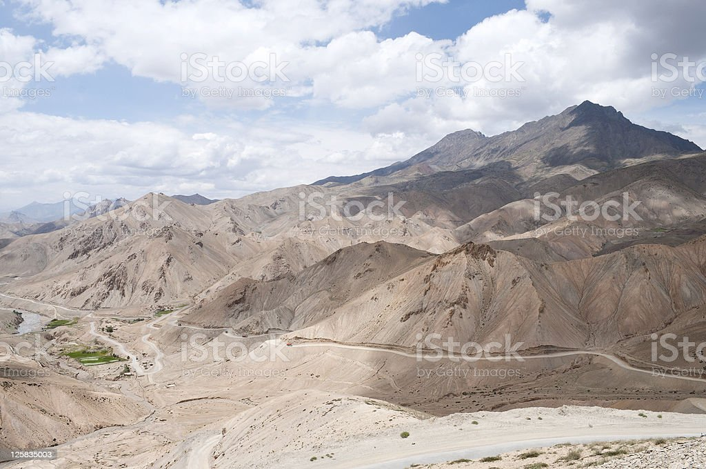 Road from Namika Pass to Fotu La in Ladakh India royalty-free stock photo