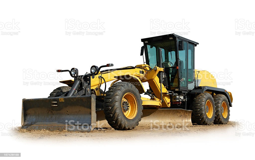 Road Grader royalty-free stock photo