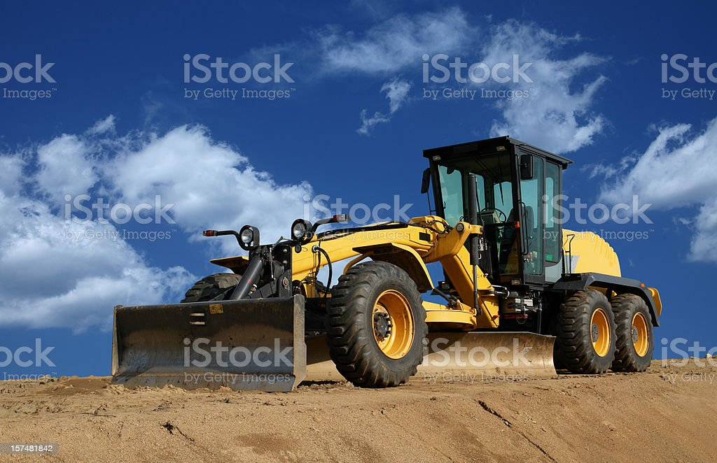 Road Grader stock photo