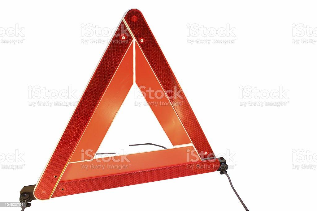 Road hazard warning triangle royalty-free stock photo