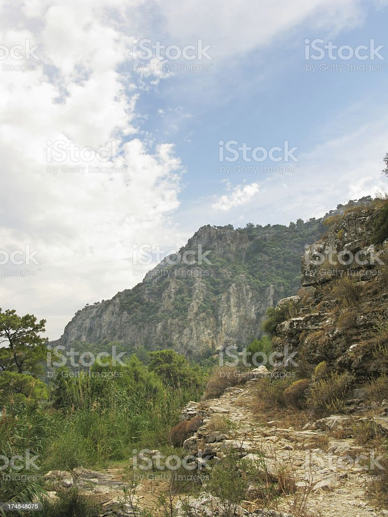 road high in mountains royalty-free stock photo