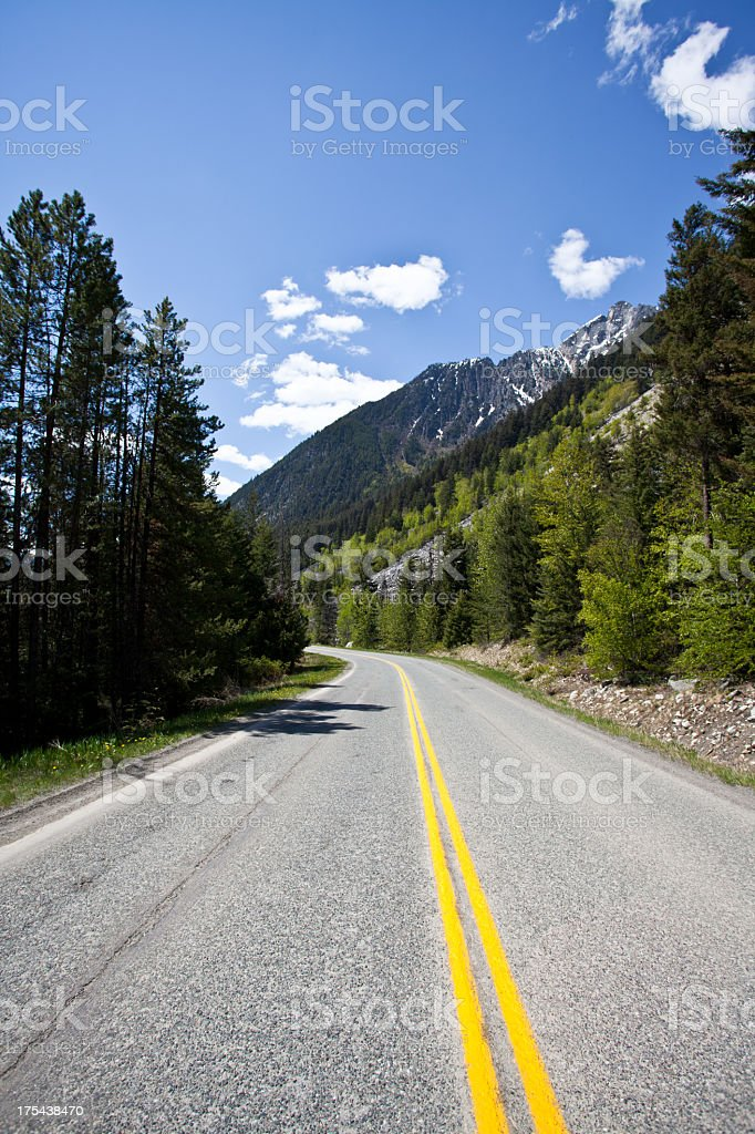 Road / Highway 99 in Canada stock photo