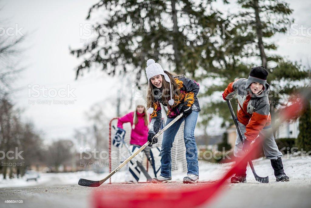 Road hockey royalty-free stock photo