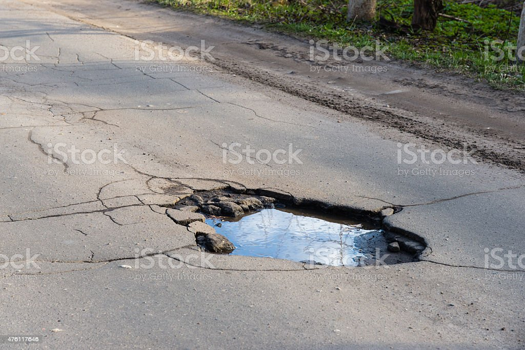 Road hole stock photo