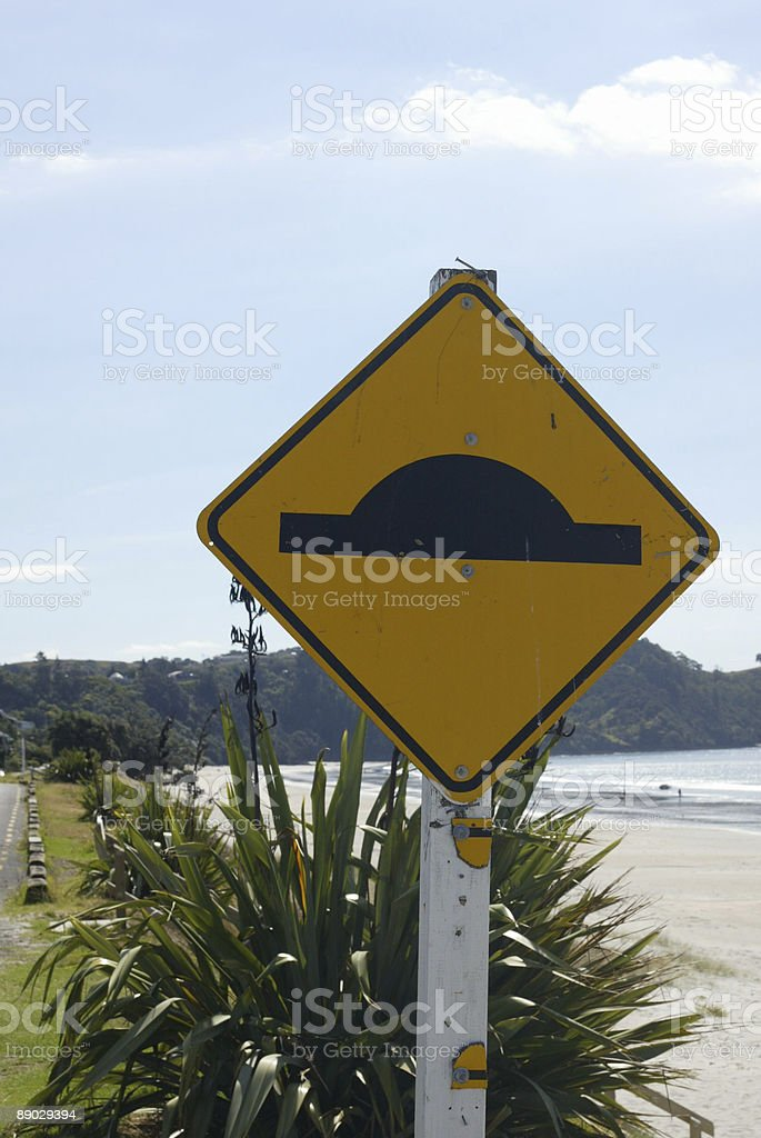 Road Hump Sign stock photo