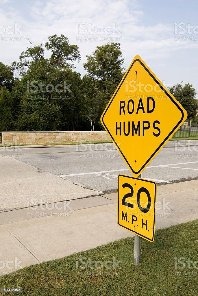 Road Hump sign stock photo