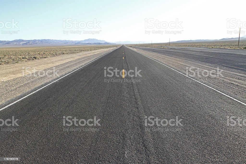 road in a desert royalty-free stock photo
