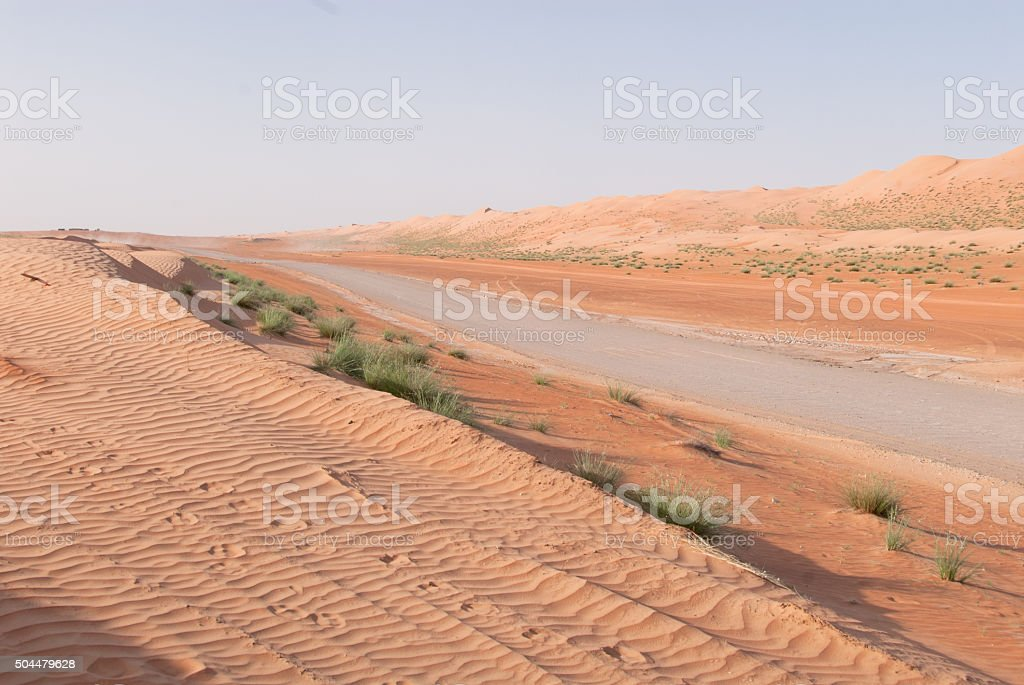Road in a desert stock photo