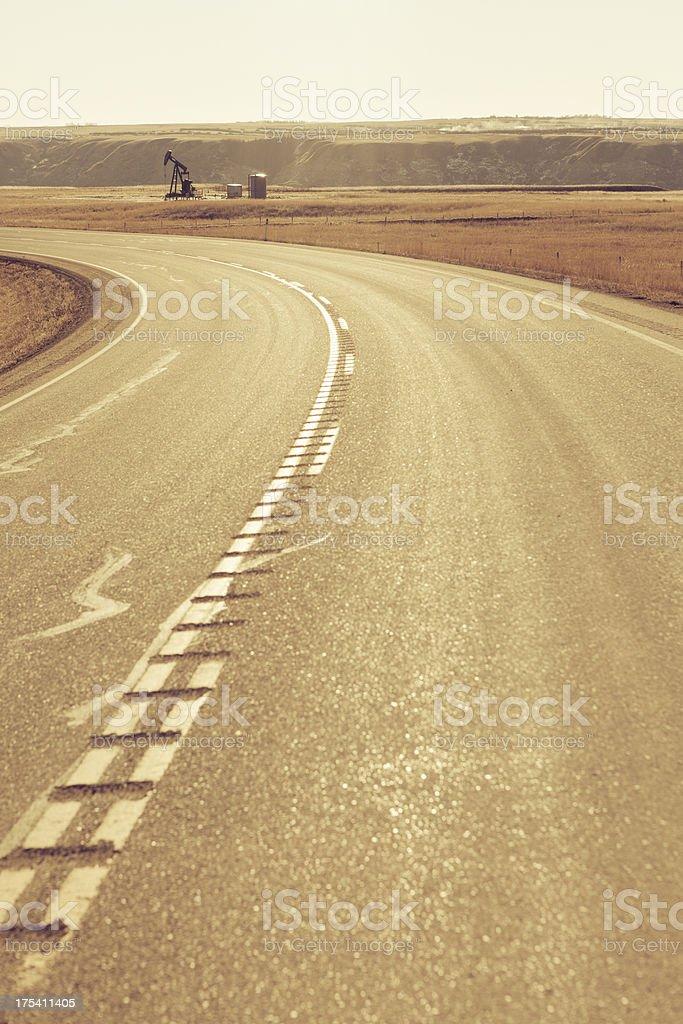 Road in Alberta royalty-free stock photo
