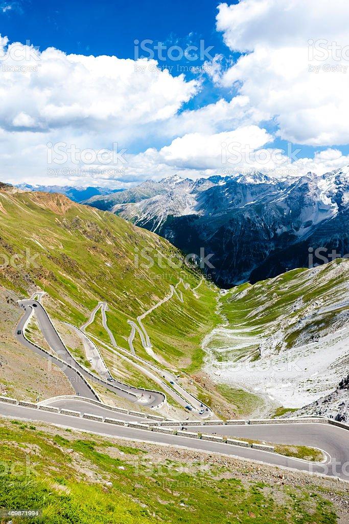 road in Alps stock photo