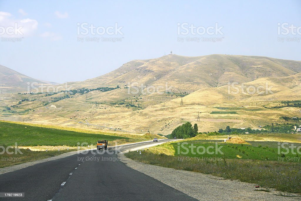 Road in Armenia royalty-free stock photo