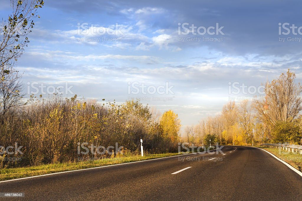 Road in autumn.. stock photo