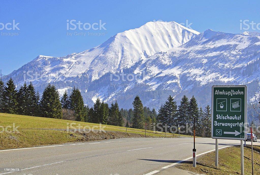 Road in Bavarian Alps royalty-free stock photo