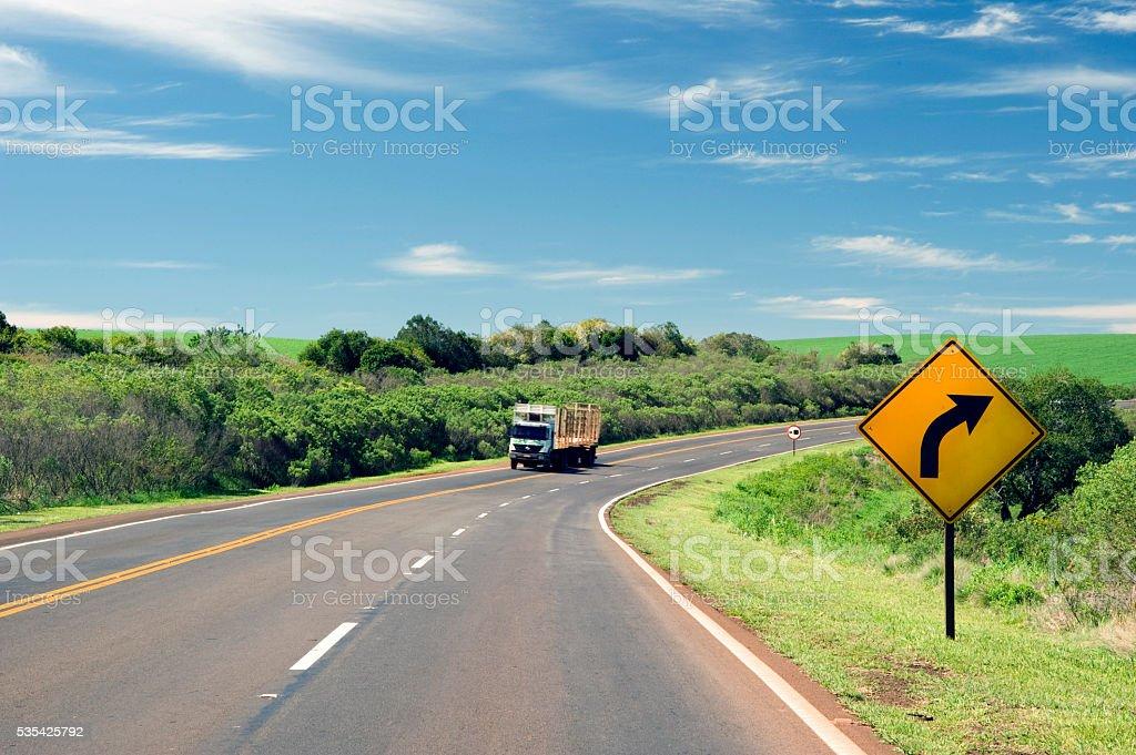 Road in Brazil stock photo