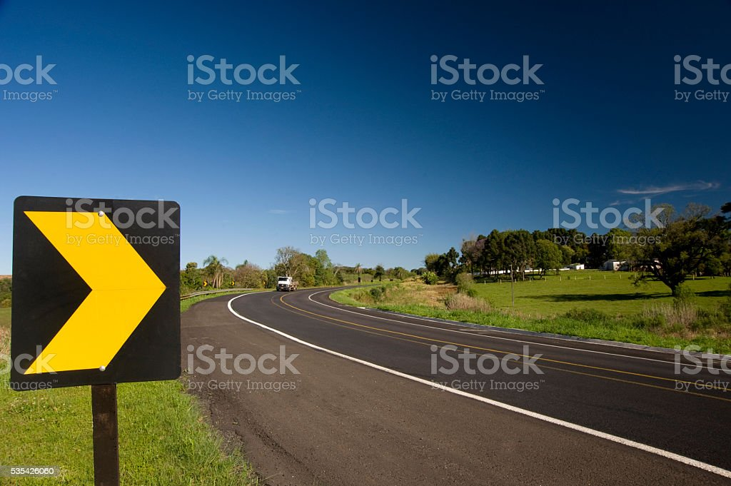 Road in Brazil stock photo