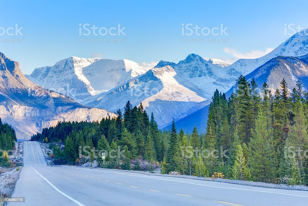 Road in Canada stock photo