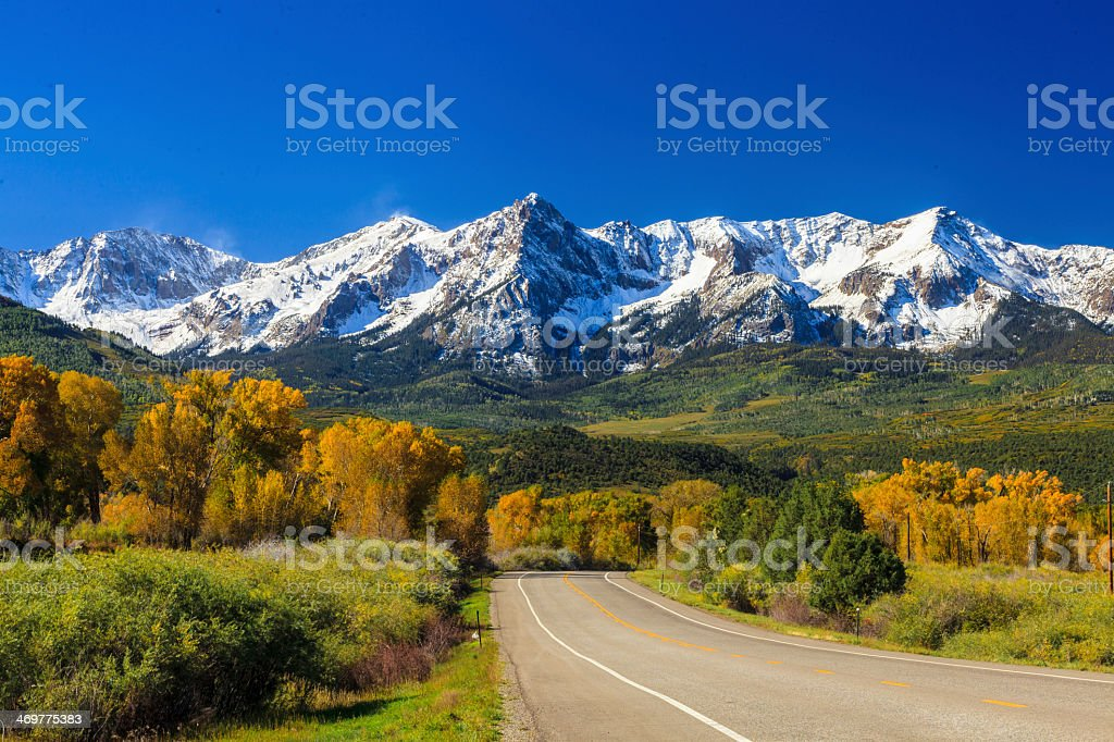 Road in Colorado stock photo