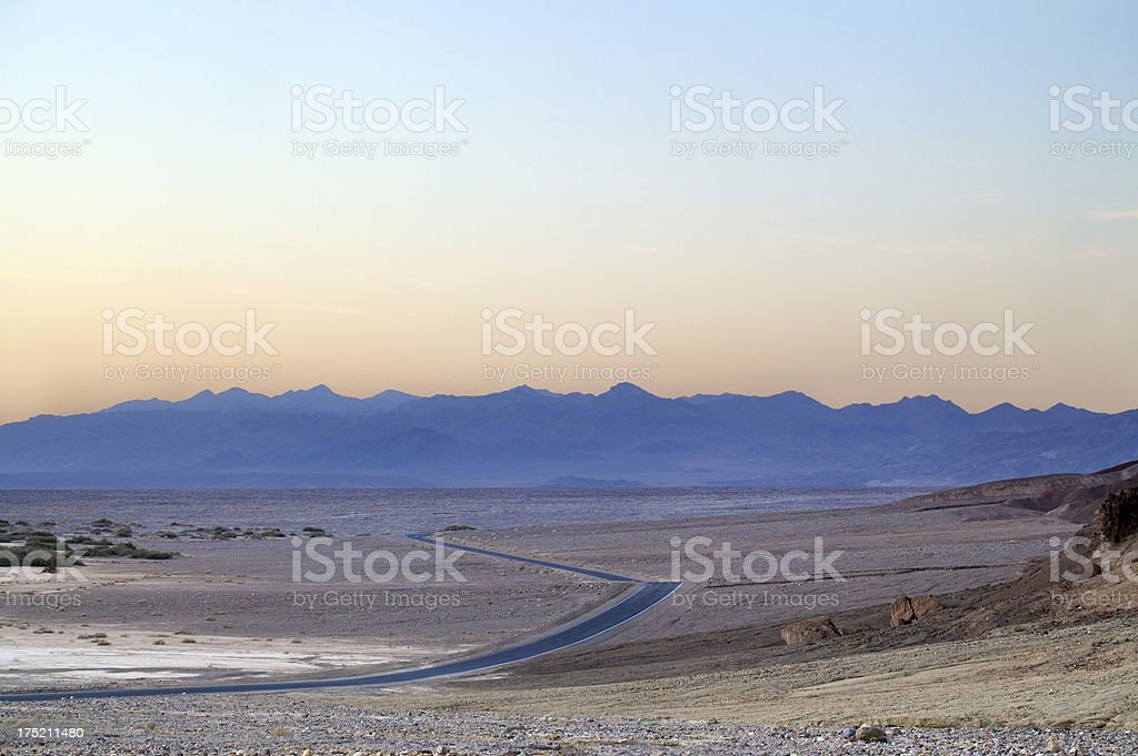 road in death valley royalty-free stock photo