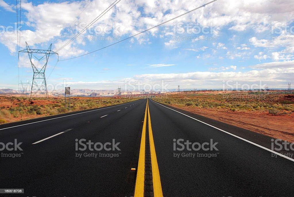 Road in desert royalty-free stock photo