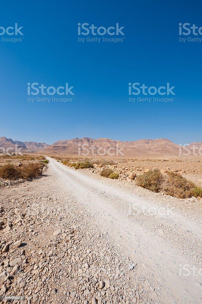 Road in  Desert stock photo