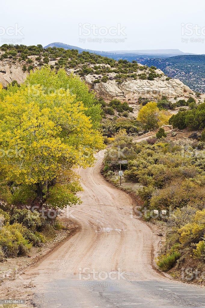 Road In Dinosaur National Monument, Utah stock photo