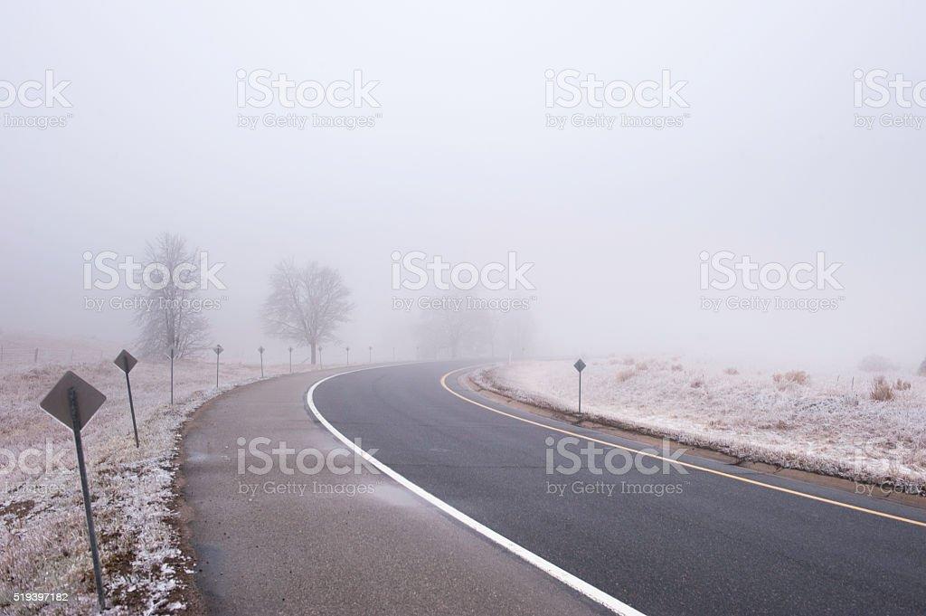 Road in fag stock photo