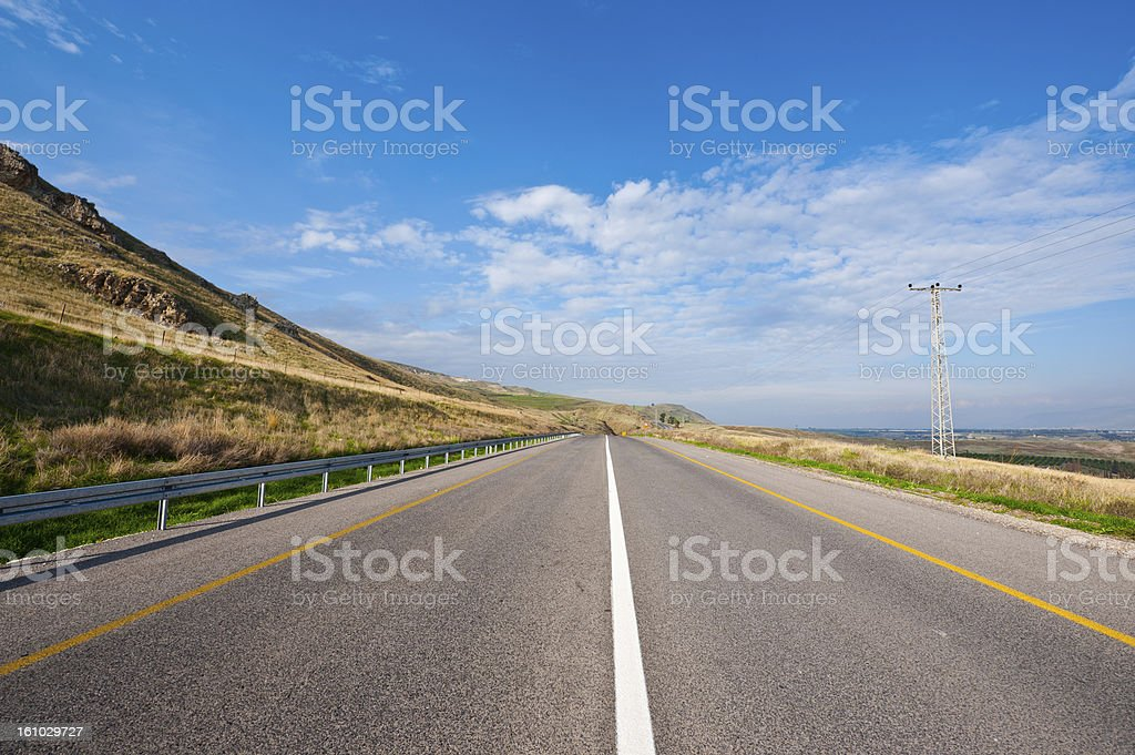 Road in Galilee royalty-free stock photo