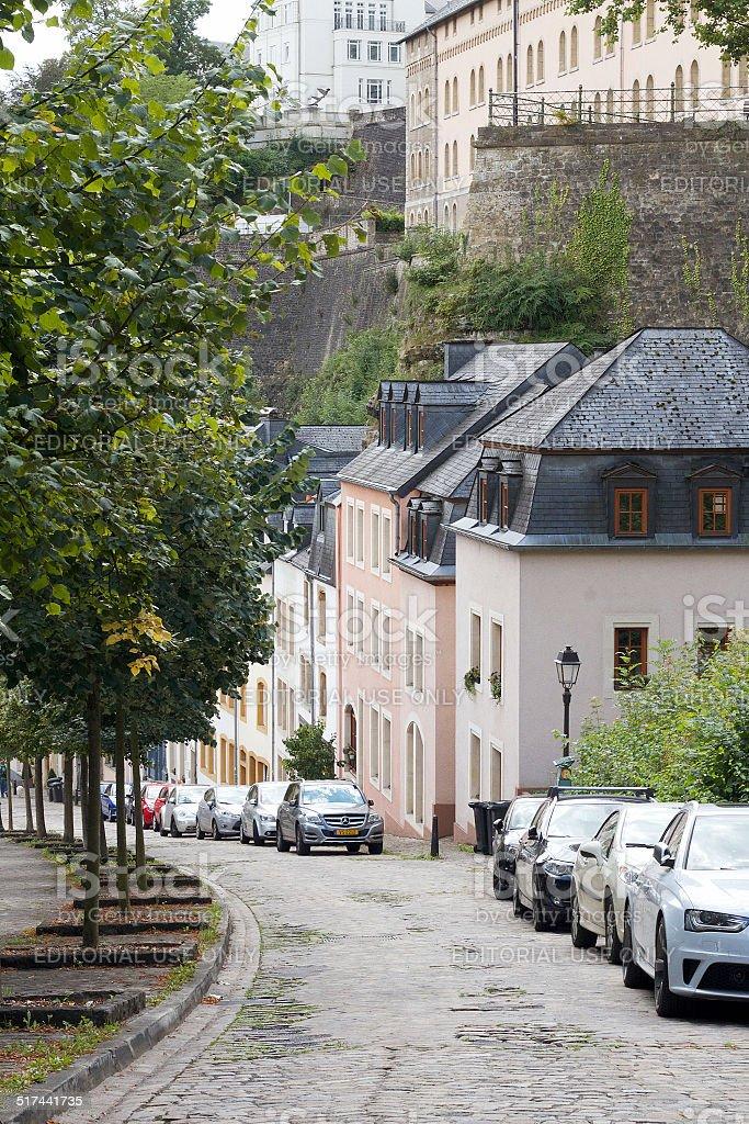 Strada in Lussemburgo foto stock royalty-free