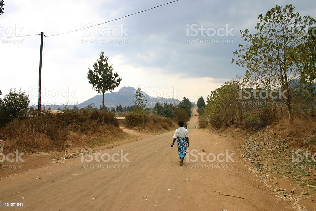 Road in Malawi stock photo