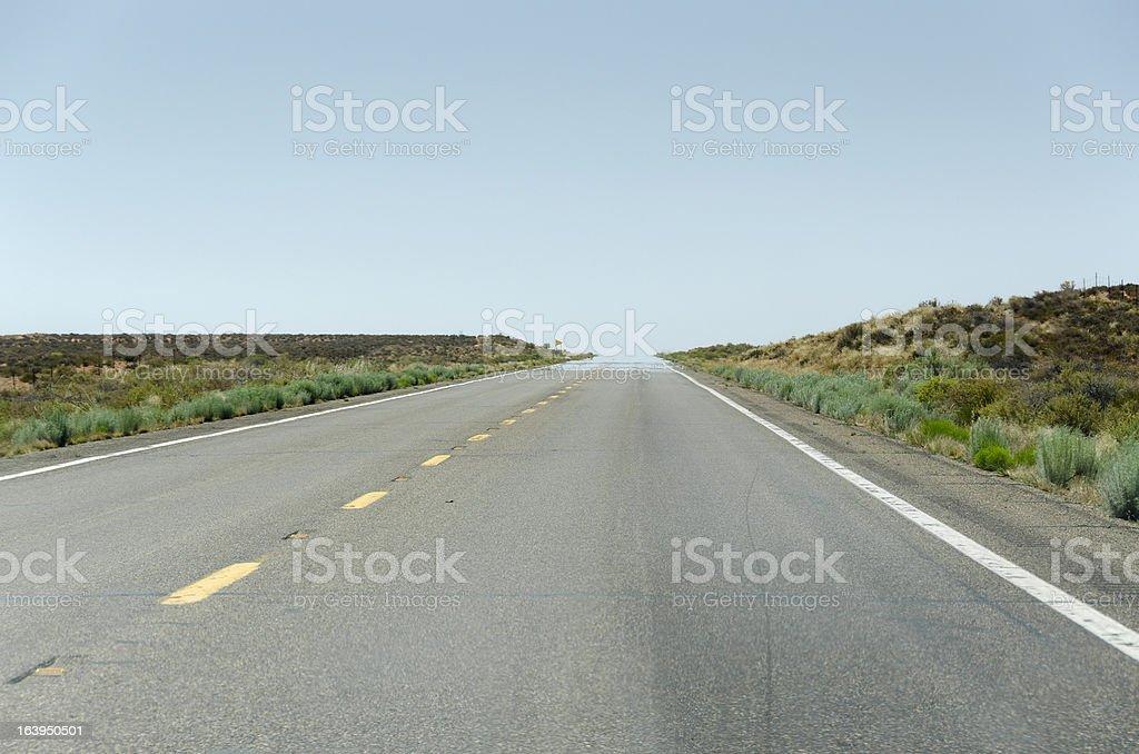 road in Monumenrt Vally royalty-free stock photo