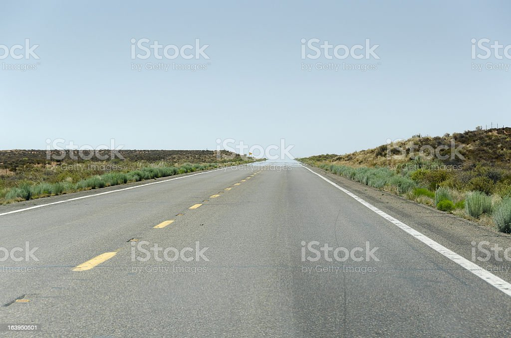 road in Monumenrt Vally stock photo