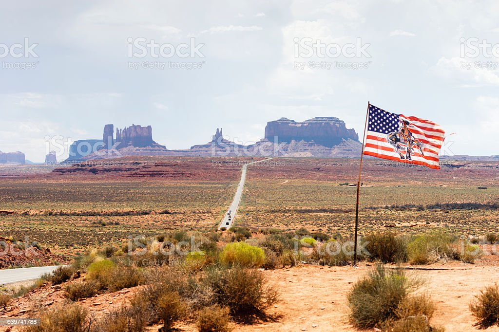 US-163 Road in Monument Valley stock photo