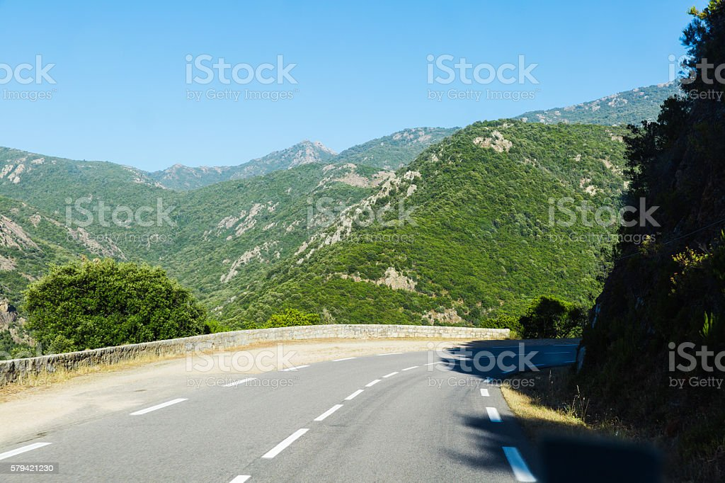 road in mountain stock photo