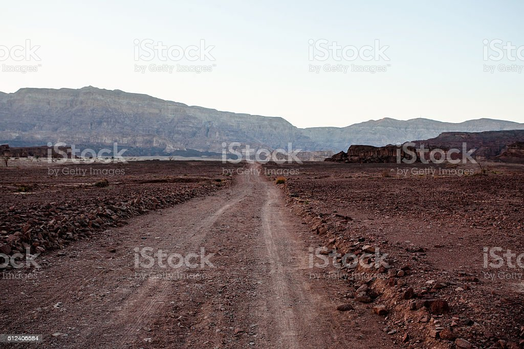 Road in National Timna Park stock photo