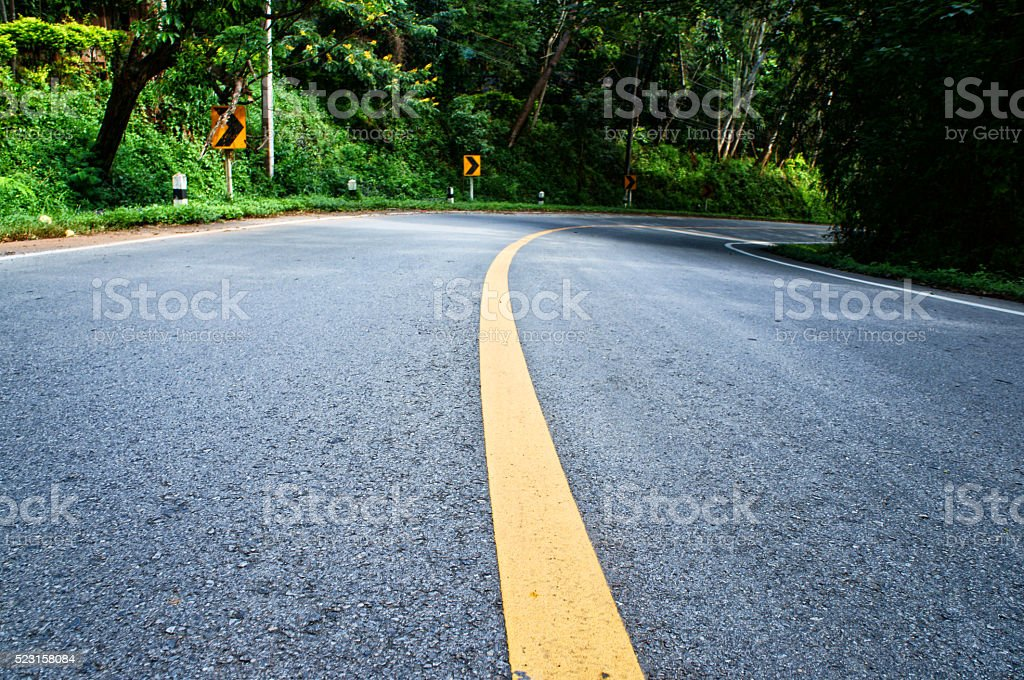 Road in Northern Thailand stock photo