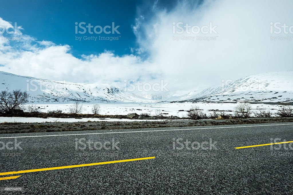 Road in Norway stock photo
