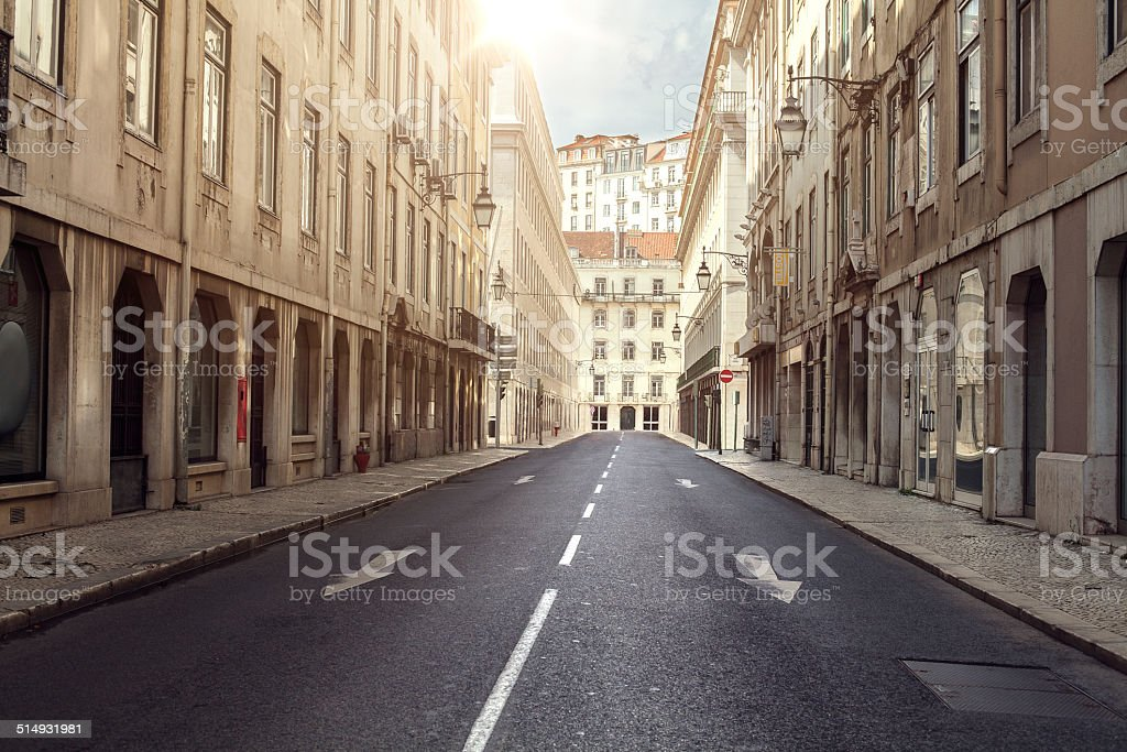 Road in old city stock photo