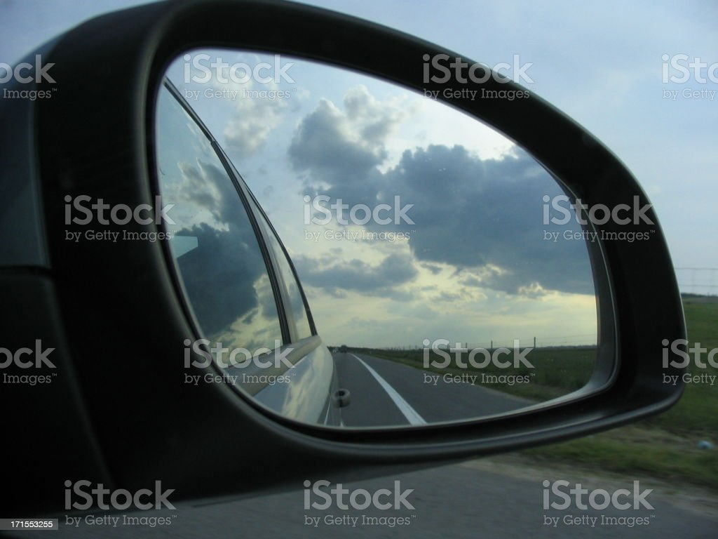 road in rearview mirror royalty-free stock photo