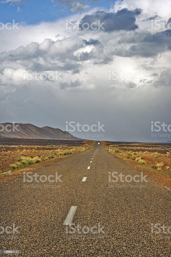 Road in Rocky Desert Erg Chebbi Morocco Africa royalty-free stock photo