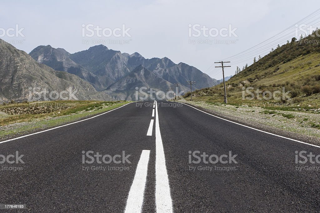 Road in Russian mountains royalty-free stock photo