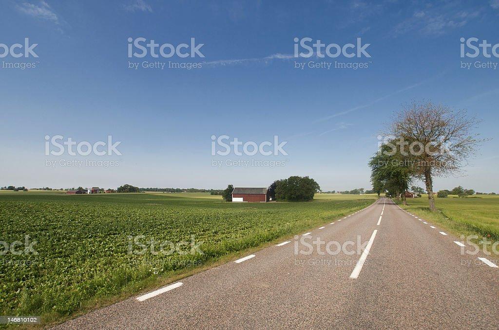 Road in Sweden stock photo