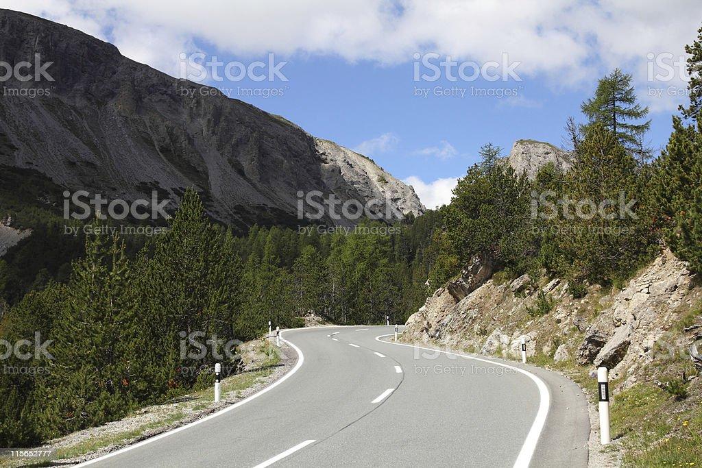 Road in Switzerland stock photo