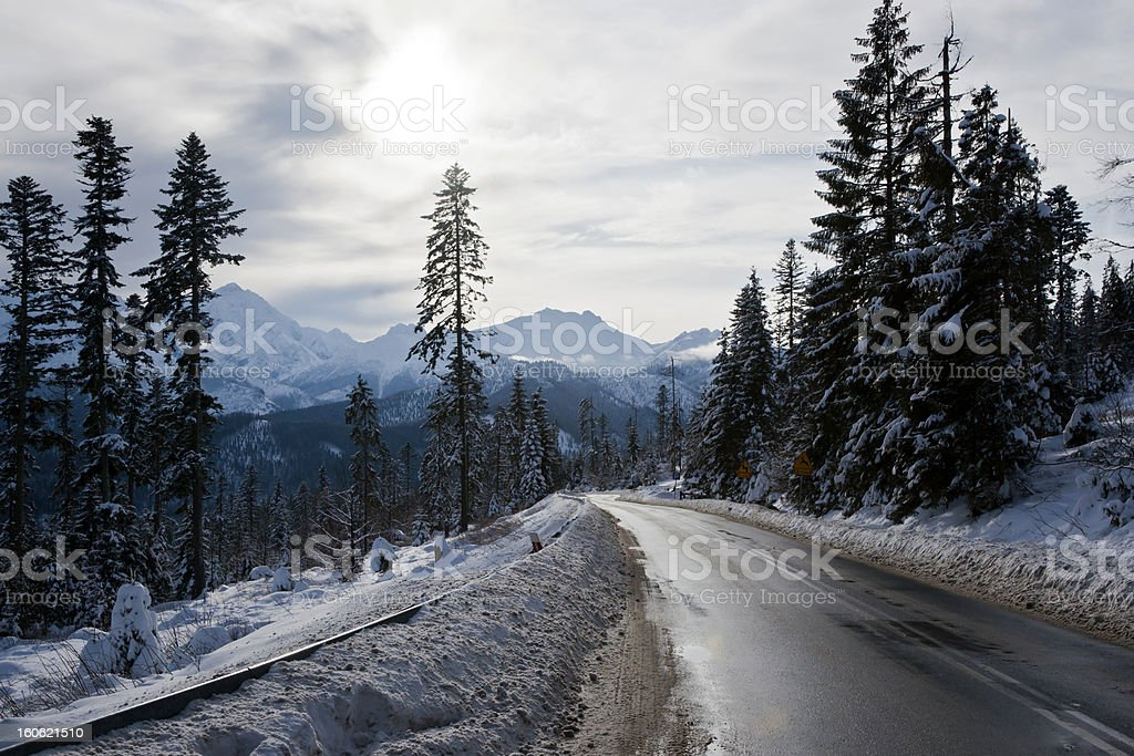 Road in Tatra Mountains royalty-free stock photo