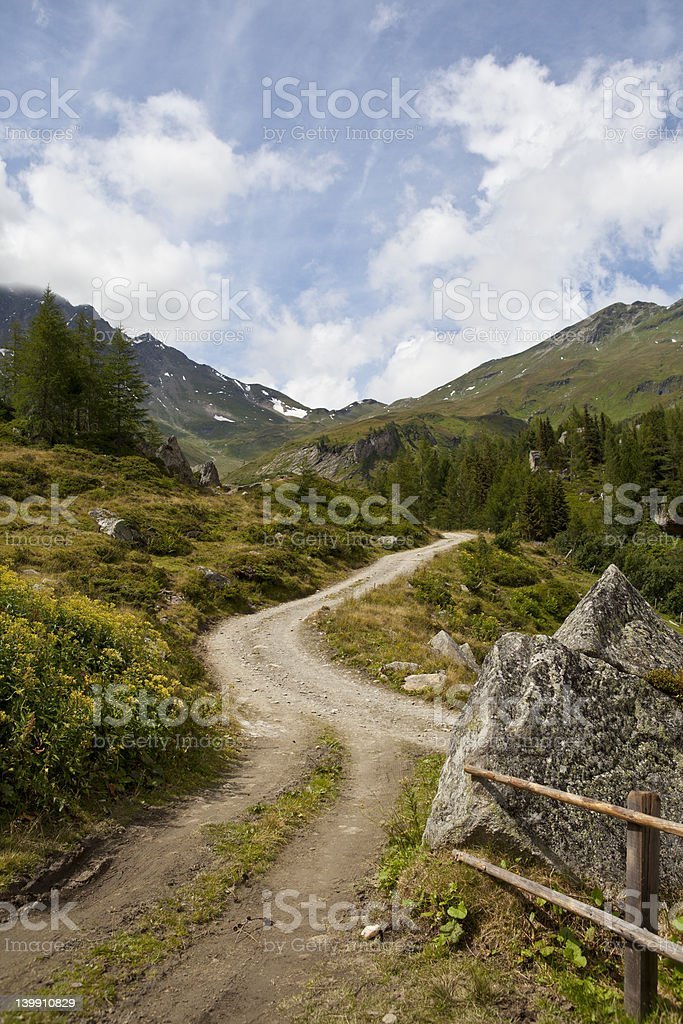 Road in the alps royalty-free stock photo